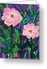 Friendship In Flowers Greeting Card