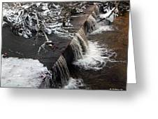 Frigid Falls Greeting Card