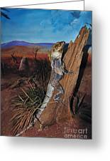 Frill-necked Lizard Greeting Card