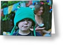 Frog Hat Greeting Card