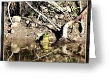 Frog King Greeting Card