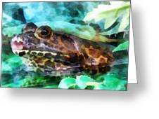 Frog Ready To Be Kissed Greeting Card by Susan Savad