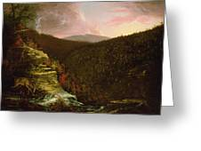 From The Top Of Kaaterskill Falls Greeting Card by Thomas Cole