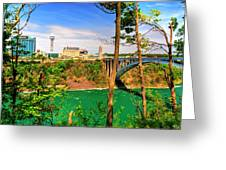 From Usa To Can Over The Rainbow Bridge Greeting Card
