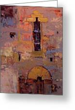 Front Door At Volterra Greeting Card