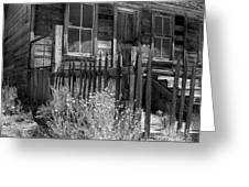 Front Porch Bodie Ghost Town California Greeting Card