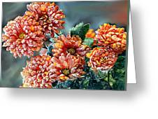 Frosted Mums Greeting Card