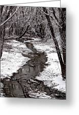 Frosted Stream Greeting Card