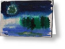 Frosty Moon Greeting Card