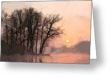 Frosty Morning At The Lake Greeting Card