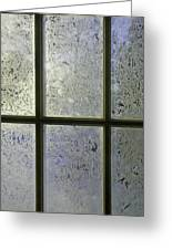 Frosty Window Pane Greeting Card