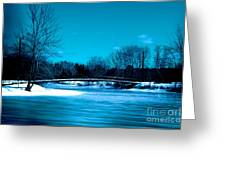 Frozen Bridge Greeting Card
