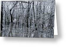 Frozen Landscape 3 Greeting Card