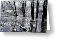 Frozen Landscape 5 Greeting Card