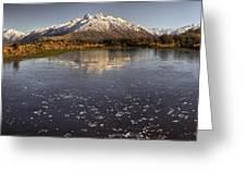 Frozen Tarn Seen From Mt Sunday Greeting Card