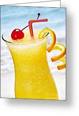 Frozen Tropical Orange Drink Greeting Card