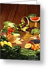 Fruit And Grain Food Group Greeting Card