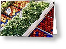 Fruit And Vegetable Stand Greeting Card
