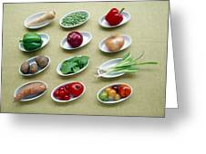 Fruit And Vegetables Greeting Card