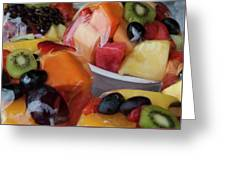 Fruit Cup Greeting Card