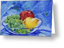 Fruit On Blue Greeting Card