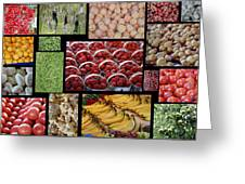 Fruits Mosaic Greeting Card by Francois Cartier