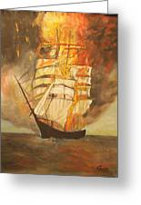 Fuego Al Mar Greeting Card
