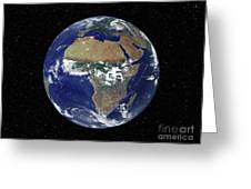 Full Earth Showing Africa And Europe Greeting Card