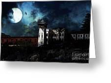 Full Moon Over Hard Time - San Quentin California State Prison - 7d18546 Greeting Card