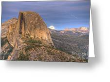 Full Moon Rise Behind Half Dome 2 Greeting Card