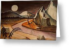 Full Moon Valley Greeting Card