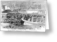 Fulton Ferry Boat, 1868 Greeting Card