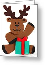 Fun Reindeer Sitting Greeting Card