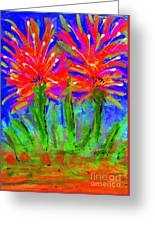 Funky Flower Towers Greeting Card
