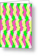 Funky Stripes Greeting Card