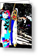 Funky Surf Boards In Seminyak Greeting Card by Funkpix Photo Hunter