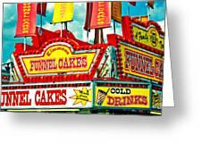Funnel Cakes Carnival Food Vendor Greeting Card