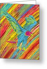 Furious Bold Bald Eagle Greeting Card by Kenal Louis