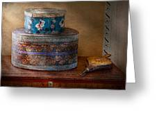 Furniture - Hat Boxes With Billow Greeting Card