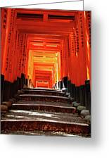 Fushimi Inari Shrine Pic.1 Greeting Card