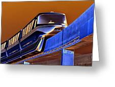 Future Monorail Greeting Card