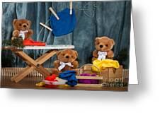 Fuzzy Bears 4 Greeting Card