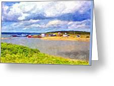Gabarus Cape Breton Nova Scotia Fishing Village Greeting Card