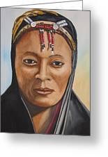 Gabbra Woman In Black  Greeting Card
