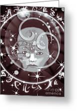Galactic Face Greeting Card