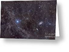 Galaxies M81 And M82 As Seen Greeting Card by John Davis