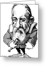 Galileo Galilei, Caricature Greeting Card