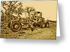 Galion Road Grader V2 Greeting Card