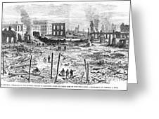 Galveston: Fire, 1877 Greeting Card