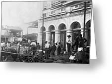 Galveston Flood - September - 1900 Greeting Card by International  Images